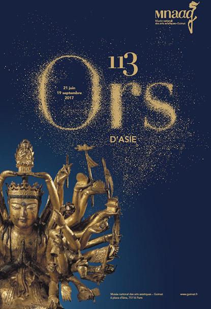 Exposition 113 Ors D'Asie au Musée National des Arts Asiatiques Guimet à Paris