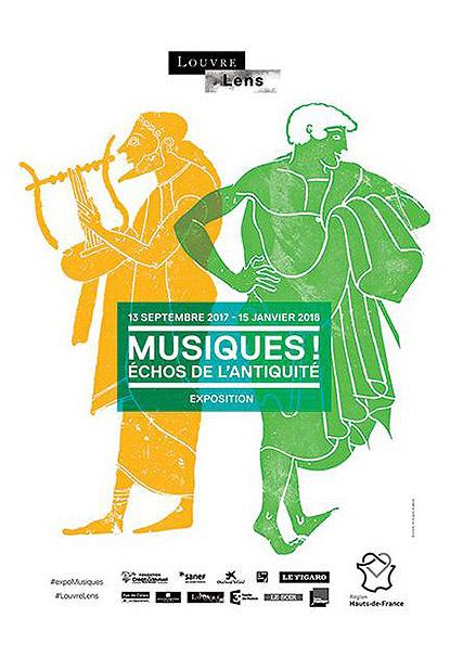 Exposition Musiques ! Échos de l'Antiquité au Musée du Louvre-Lens à Lens